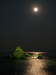夫婦岩の月の出