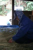 榊です。縄も手作りです