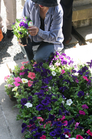 お花の鉢までいただいて