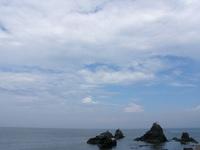 いい天気な夫婦岩