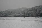 五峰山にも,雪…