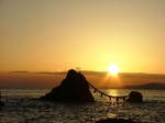 夫婦岩からの日の出
