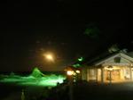 月の出と社殿