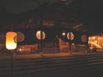 夜の猿田彦神社拝殿
